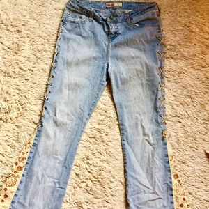 Sparkly Light Blue Mudd Jeans